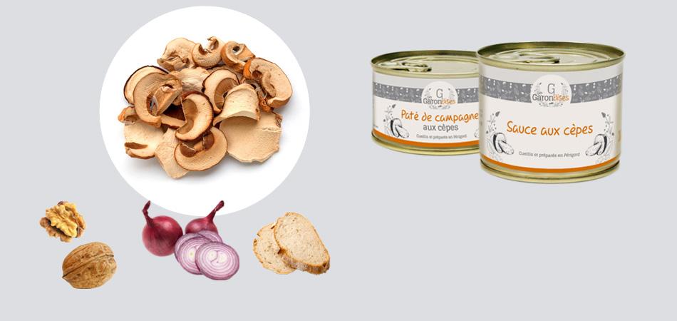Gamme de produits Les Garondises : Autour du cèpe